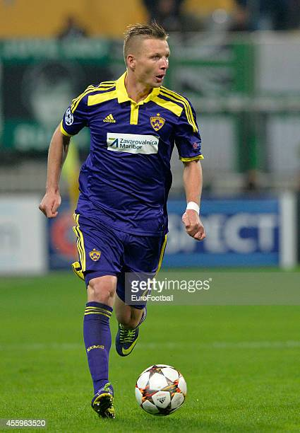 Dare Vrsic of NK Maribor in action during the UEFA Group G Champions League football match between NK Maribor and Sporting Lisbon at the Ljudski vrt...