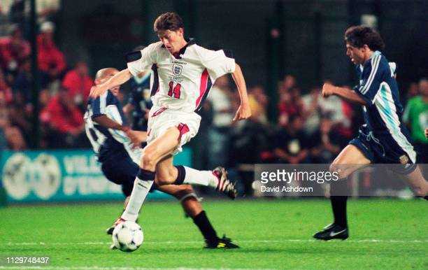 Daren Anderton during FIFA World Cup in France at the State GeofforyGuichard in SaintEtienne 30th June 1998