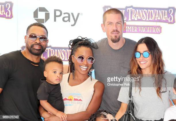 Daren Dukes Daren OC Dukes Shanola Hampton Steve Howey and Sarah Shahi attend the Columbia Pictures and Sony Pictures Animation's world premiere of...