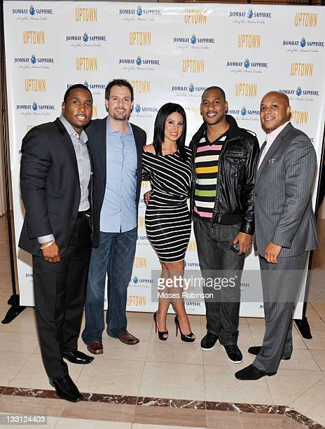Daren Henderson MIke Dunne Amy Eslami Richard Mcleod and Ervin Lee attend Bombay Sapphire Art of the Martini at 200 Peachtree Grand Atrium on...