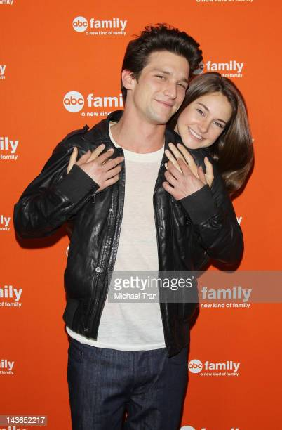 Daren Kagasoff and Shailene Woodley arrive at ABC Family hosts the West Coast upfronts party held at The Sayers Club on May 1 2012 in Hollywood...