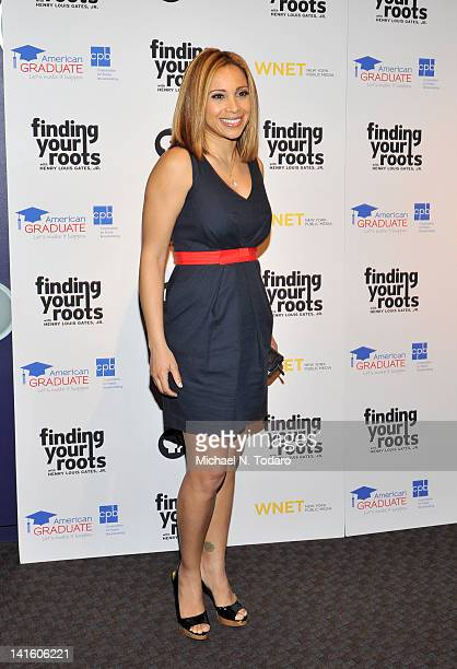 Dari Alexander attends the Finding Your Roots New York premiere at Frederick P Rose Hall Jazz at Lincoln Center on March 19 2012 in New York City
