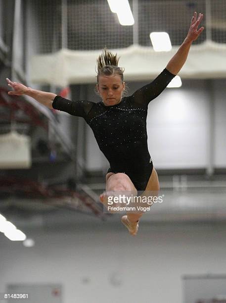 Daria Bijak of Germany in action during the women inividual all rounder competition of the German Artistic Gymnastics Championships at the...