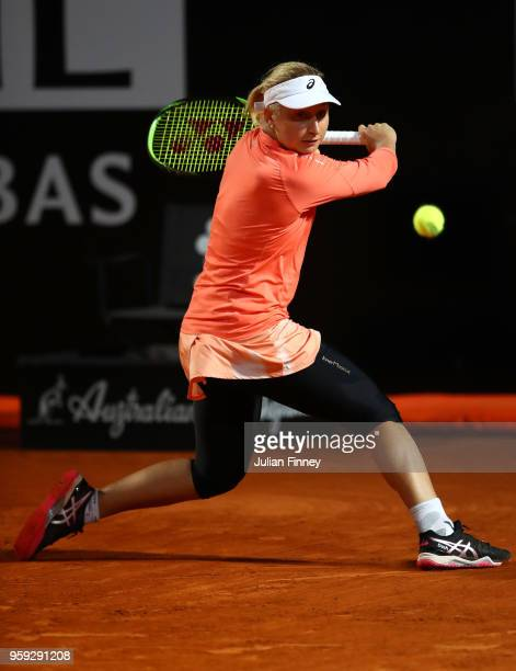 Daria Gavrilova of Australia in action against Garbine Muguruzu of Spain during day four of the Internazionali BNL d'Italia 2018 tennis at Foro...