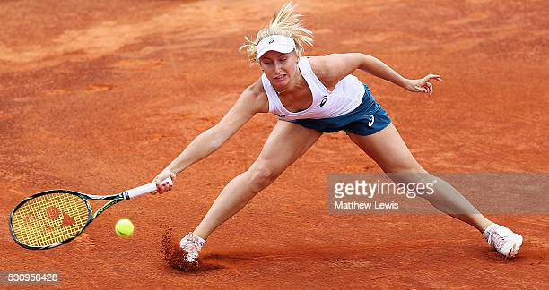 Daria Gavrilova of Australia in action against Svetlana Kuznetsova of Russia during day five of The Internazionali BNL d'Italia 2016 on May 12 2016...
