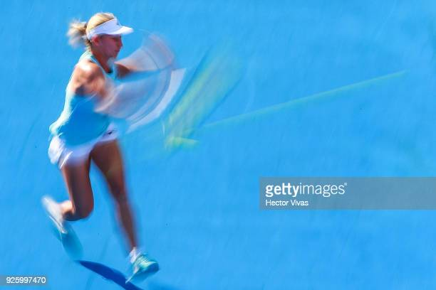 Daria Gavrilova of Australia takes a forehand shot during a match between Renata Zarazua of Mexico and Daria Gavrilova of Australia as part of the...