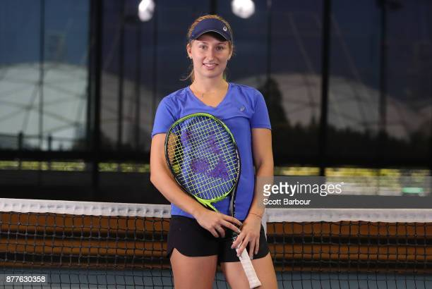 Daria Gavrilova poses for a portrait ahead of next Monday's Newcombe Medal at Melbourne Park on November 23 2017 in Melbourne Australia