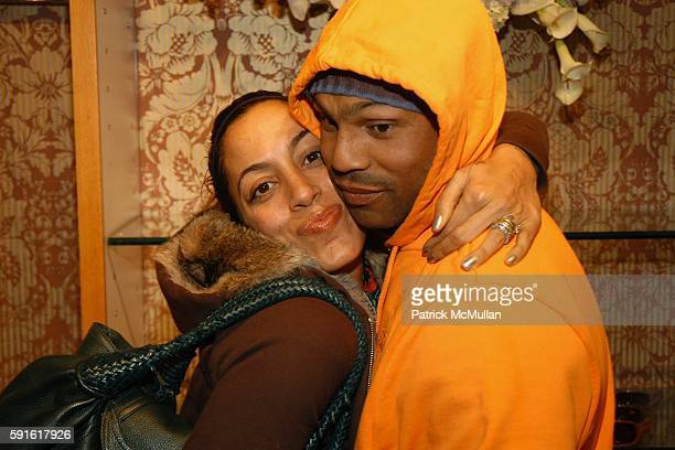 Daria Hines and Wayne Rambharose attend Juicy Couture Trunk Show at Fred Segal on November 28, 2005 in Los Angeles, CA.