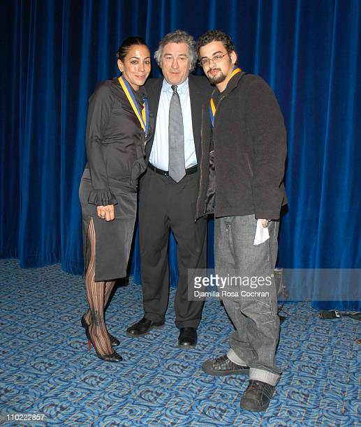 Daria Hines, Robert De Niro and Zachary Hines during The Young Audiences New York Children's Arts Medal Benefit at Marriott Marquis in New York City,...