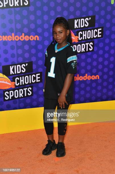 Daria Johns attends the Nickelodeon Kids' Choice Sports 2018 at Barker Hangar on July 19 2018 in Santa Monica California