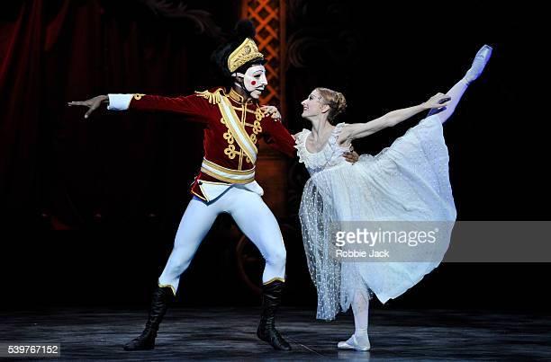Daria Klimrentova as Clara and Junor Souza as Nutcracker in English National Ballet's production of Wayne Eagling's 'The Nutcracker' at the London...