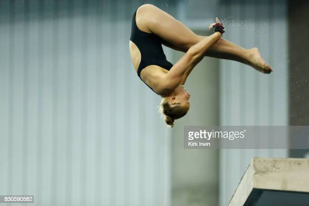Daria Lenz of SoCal Divers competes during the Senior Women's Platform Final during the 2017 USA Diving Summer National Championships on August 11...