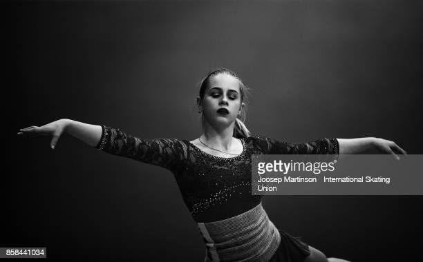 Daria Panenkova of Russia warms up prior to the Ladies Free Skating during day two of the ISU Junior Grand Prix of Figure Skating at Olivia Ice Rink...
