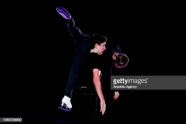 Daria Pavliuchenko and Denis Khodykin of Russia perform during the Gala Exhibition of the ISU GP Rostelecom Cup 2018 at the Megasport Arena in Moscow...