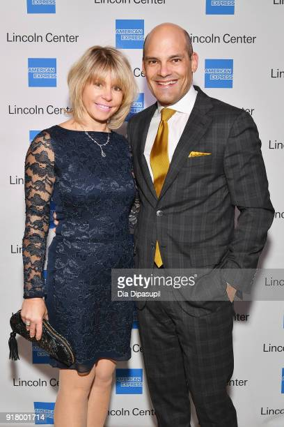 Daria Reznikova and Raymond Joabar attend the Winter Gala at Lincoln Center at Alice Tully Hall on February 13 2018 in New York City