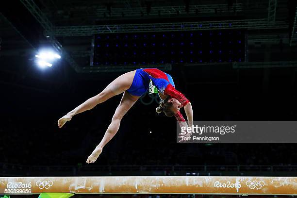 Daria Spiridonova of Russia competes on the balance beam during Women's qualification for Artistic Gymnastics on Day 2 of the Rio 2016 Olympic Games...