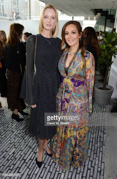 Daria Strokous and Batia Ofer attend a champagne reception lunch and auction in support of the MakeAWish Foundation hosted by Alison Loehnis...