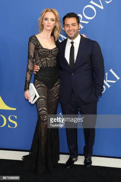 Daria Strokous and Jonathan Simkhai attend the 2018 CFDA Awards at Brooklyn Museum on June 4 2018 in New York City