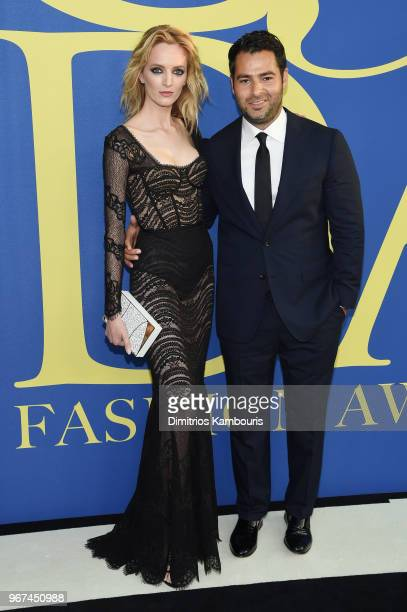 Daria Strokous and Jonathan Simkhai attend the 2018 CFDA Fashion Awards at Brooklyn Museum on June 4 2018 in New York City