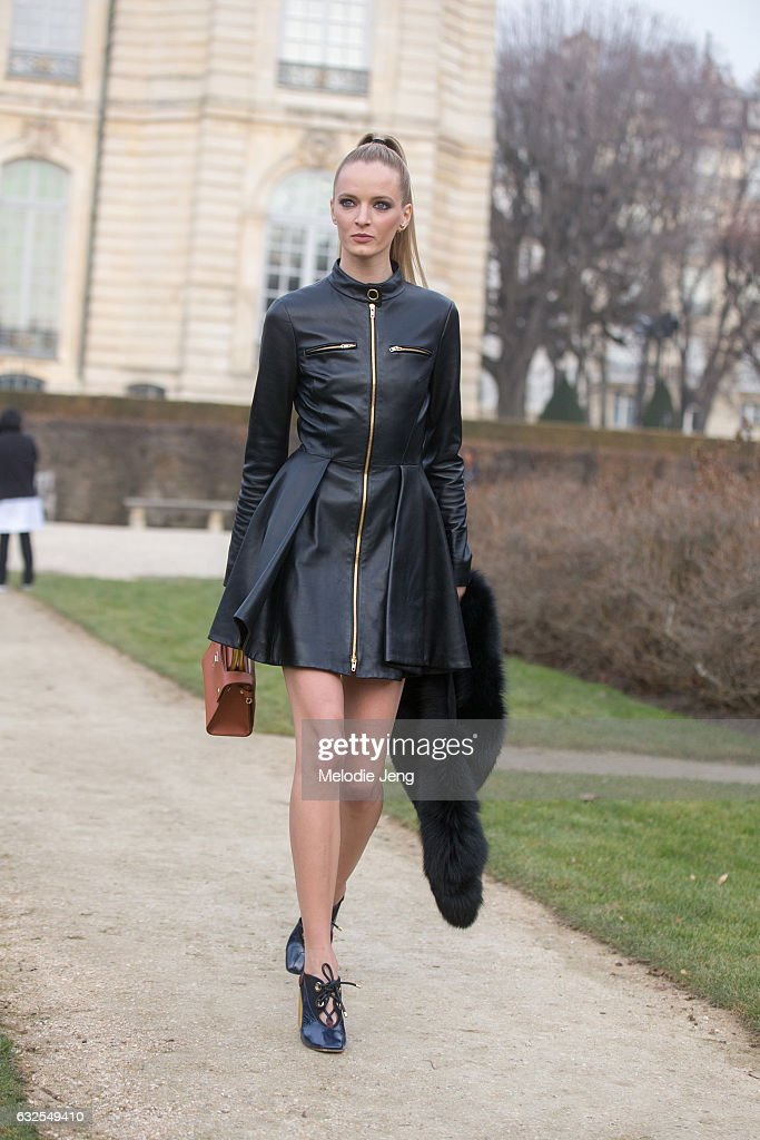 Daria Strokous at the Dior Couture show at Musee Rodin on January 23, 2017 in Paris, France.