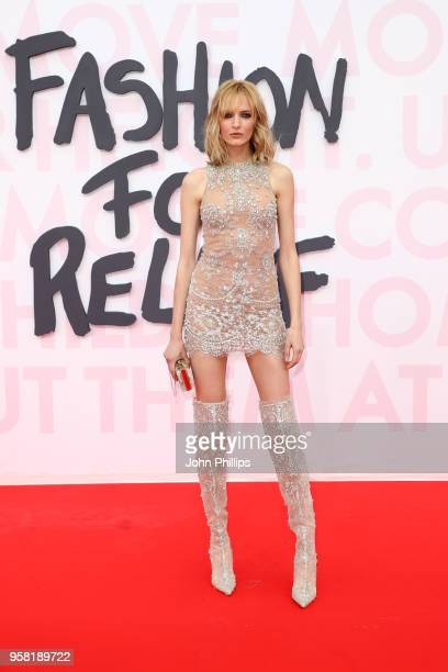 Daria Strokous attends Fashion for Relief Cannes 2018 during the 71st annual Cannes Film Festival at Aeroport Cannes Mandelieu on May 13 2018 in...