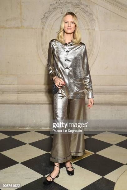 Daria Strokous attends the Christian Dior Haute Couture Spring Summer 2018 show as part of Paris Fashion Week on January 22 2018 in Paris France