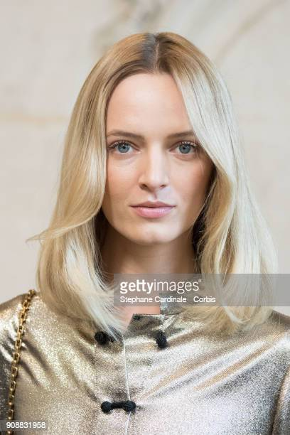 Daria Strokous attends the Christian Dior Haute Couture Spring Summer 2018 show as part of Paris Fashion Week January 22 2018 in Paris France