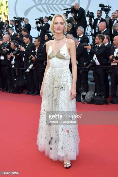 Daria Strokous attends the 'Ismael's Ghosts ' screening and Opening Gala during the 70th annual Cannes Film Festival at Palais des Festivals on May...