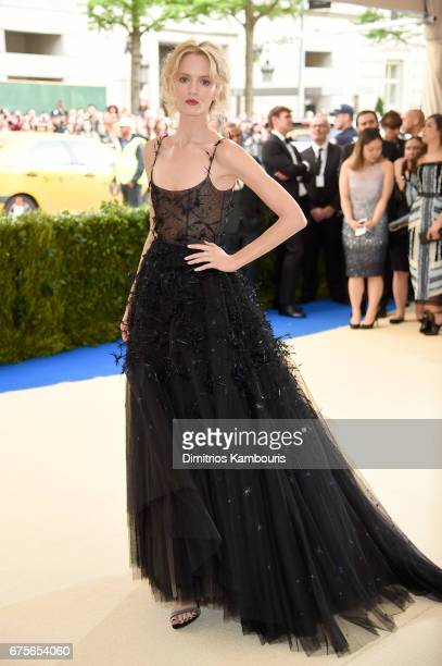 Daria Strokous attends the 'Rei Kawakubo/Comme des Garcons Art Of The InBetween' Costume Institute Gala at Metropolitan Museum of Art on May 1 2017...