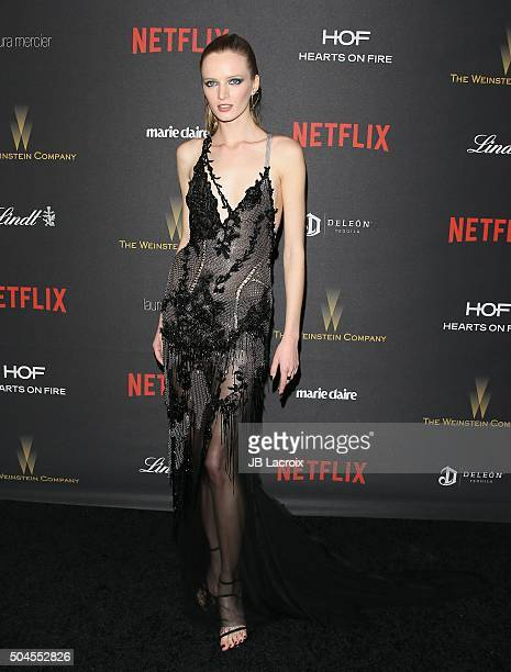 Daria Strokous attends The Weinstein Company and Netflix Golden Globe Party presented with DeLeon Tequila Laura Mercier Lindt Chocolate Marie Claire...