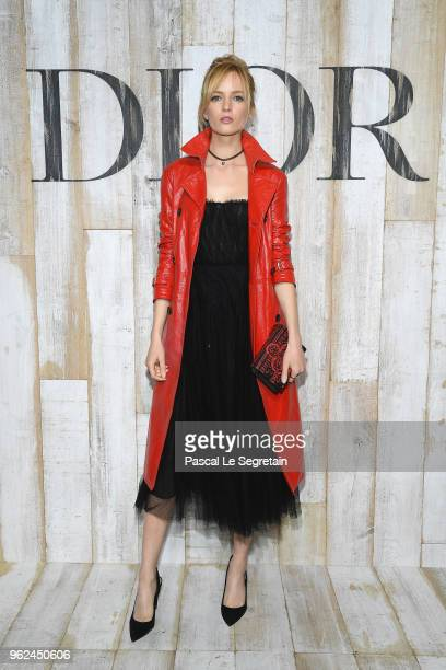 Daria Strokous poses at a photocall during Christian Dior Couture S/S19 Cruise Collection on May 25 2018 in Chantilly France