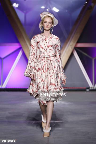 Daria Strokous walks the Runway at Fashion for Relief Cannes 2018 during the 71st annual Cannes Film Festival at Aeroport Cannes Mandelieu on May 13...