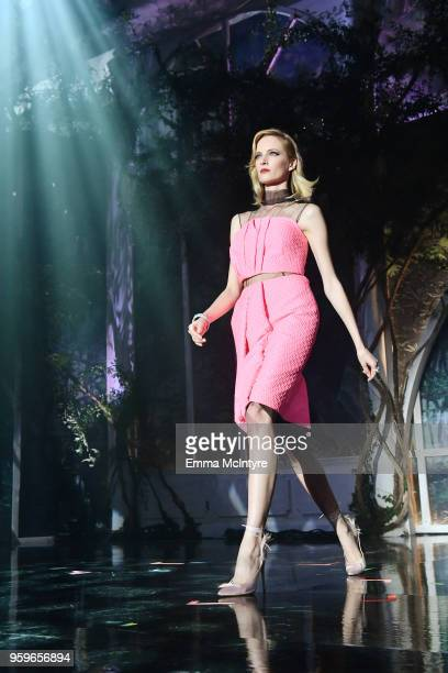 Daria Strokous wearing Prada walks the runway at the amfAR Gala Cannes 2018 at Hotel du CapEdenRoc on May 17 2018 in Cap d'Antibes France