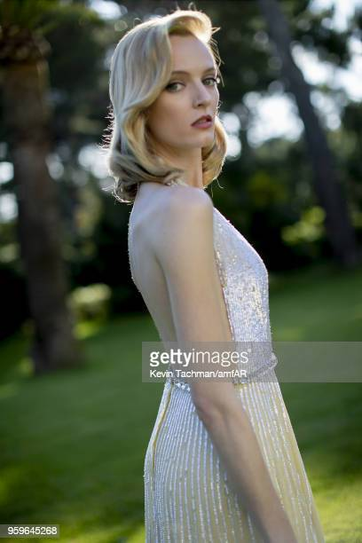 Daria Strokus attends the cocktail at the amfAR Gala Cannes 2018 at Hotel du CapEdenRoc on May 17 2018 in Cap d'Antibes France