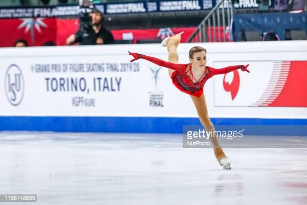 Daria USACHEVA in action during the JUNIOR LADIES Short Program of the ISU Figure Skating Grand Prix final at Palavela on December 5, 2019 in Turin,...
