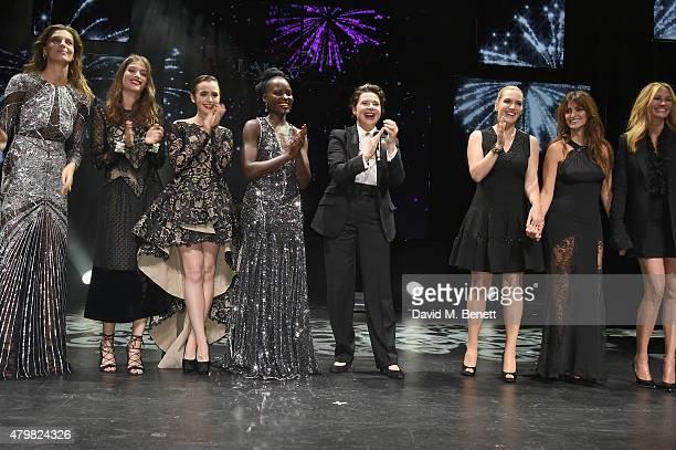 Daria Werbowy Alma Jodorowsky Lily Collins Lupita Nyong'o Isabella Rossellini Kate Winslet Penelope Cruz and Julia Roberts during the Lancome...