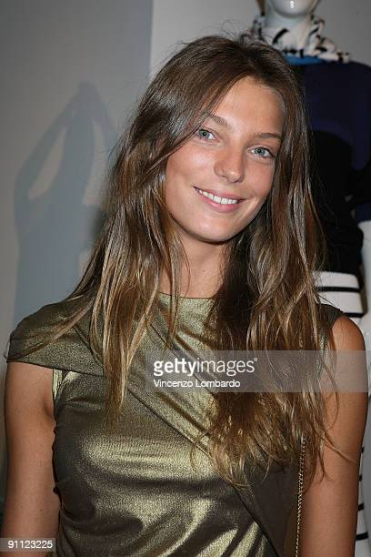 Daria Werbowy attends the Stefanel 50th Anniversary Party as part of the Milan Womenswear Fashion Week Spring/Summer 2010 at the Cardi Black Box on...