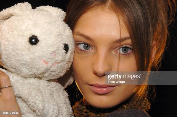 Daria Werbowy with make-up by Gucci Westman for Lancome