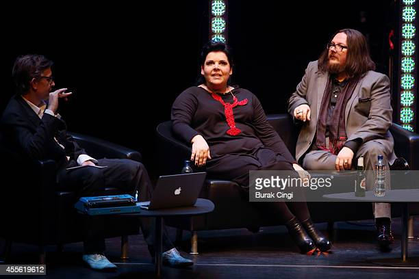 Darian Leader, Jane Pollard and Iain Forsyth discuss 20,000 Days on Earth on stage at the gala preview of 20,000 Days on Earth at Barbican Centre on...