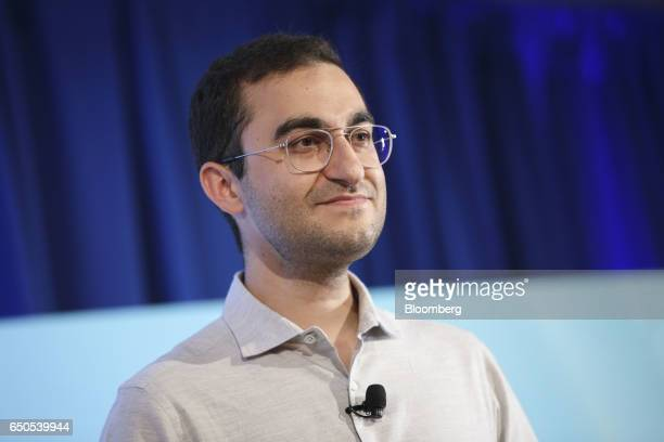 Darian Shirazi chief executive officer of Radius Intelligence Inc pauses while speaking during the Montgomery Summit in Santa Monica California US on...