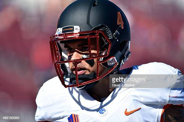 Darian Thompson of the Boise State Broncos looks on before a game against the UNLV Rebels at Sam Boyd Stadium on October 31 2015 in Las Vegas Nevada...