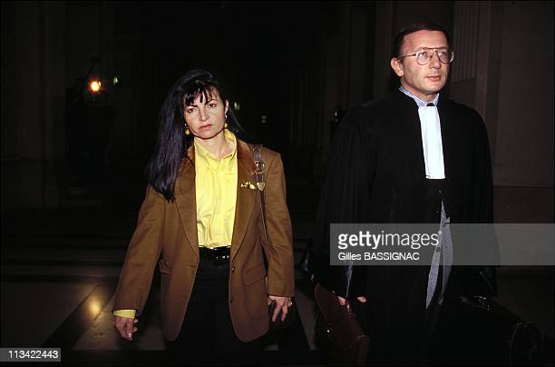Darie Boutboul arriving at court for the trial of her mother On March 7Th 1994