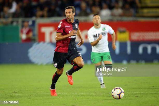 Darijo Srna of Cagliari in action during the serie A match between Cagliari and US Sassuolo at Sardegna Arena on August 26 2018 in Cagliari Italy