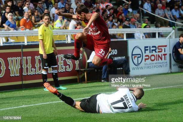 Darijo Srna of Cagliari in action during the serie A match between Parma Calcio and Cagliari at Stadio Ennio Tardini on September 22 2018 in Parma...