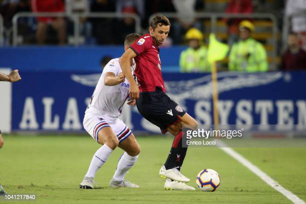 Darijo Srna of Cagliari in action during the serie A match between Cagliari and UC Sampdoria at Sardegna Arena on September 26 2018 in Cagliari Italy