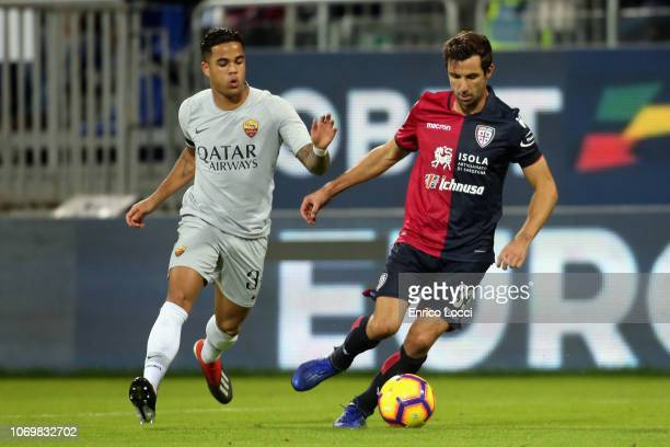Darijo Srna of Cagliari in action during the Serie A match between Cagliari and AS Roma at Sardegna Arena on December 9 2018 in Cagliari Italy