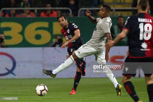 Darijo Srna of Cagliari in action during the Serie A match between Cagliari and Juventus at Sardegna Arena on April 2 2019 in Cagliari Italy