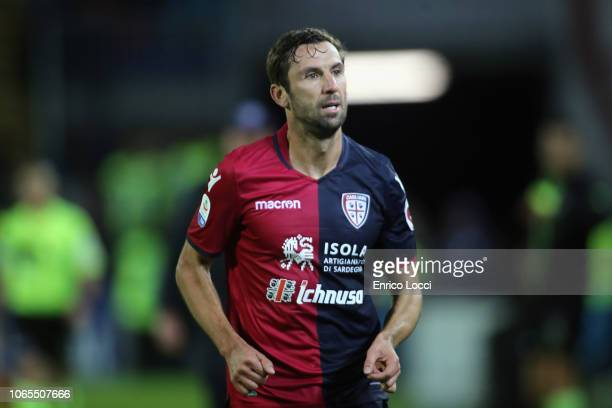 Darijo Srna of Cagliari injured during the Serie A match between Cagliari and Torino FC at Sardegna Arena on November 26 2018 in Cagliari Italy