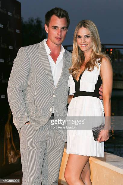 Darin Brooks and girlfriend Kelly Kruger attend a Party at the Monte Carlo Bay Hotel on June 9 2014 in MonteCarlo Monaco