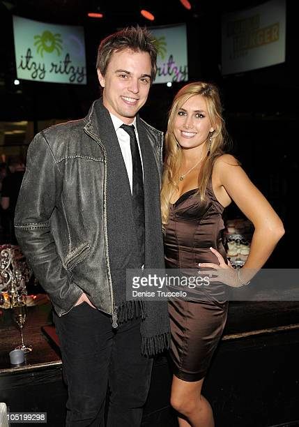 Darin Brooks and Jennifer Bunney attend World Hunger Relief Fundraiser for UN World Food Program at Eve Nightclub at CityCenter on October 11 2010 in...
